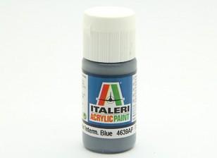 イタレリアクリルペイント - フラット非鏡面Intermedブルー