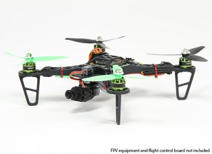 HobbyKingスペックFPV250 V2ドローンARFコンボキット - ミニFPVドローンをサイズの(ARF)