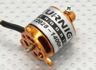 C2028マイクロブラシレスアウトランナーの1400kv(22グラム)