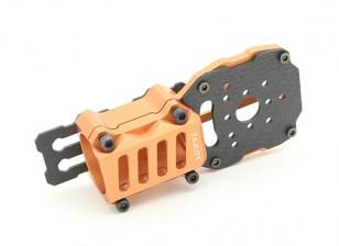 タロットは25ミリメートルアームズ(1個)を使用したマルチローター(オレンジ)のためのモーターとESCマウントのアップグレード