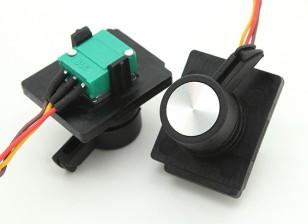FrSky 2.4GHzのACCST TARANIS X9Dデジタルテレメトリ送信機の交換サイドスライダー(2個)