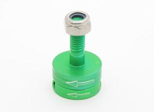 CNCアルミM6クイックリリース自己締め付けプロップアダプターセット - グリーン(反時計回り)