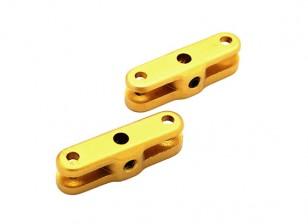 3ミリメートルシャフトのための29ミリメートル折りたたみプロペラアダプター(ゴールド)1ペア