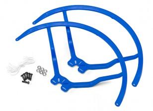 8インチのプラスチック製ユニバーサルマルチロータープロペラガード - ブルー(2SET)