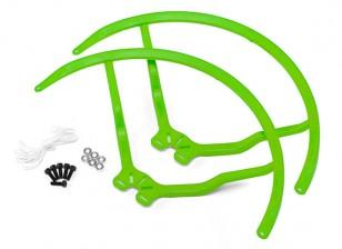 9インチのプラスチック製ユニバーサルマルチロータープロペラガード - グリーン(2SET)