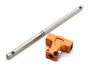 タロット450のPro / ProのV2 DFCスプリットロックメインローターハウジングとスピンドル - オレンジ(TL48018-02)