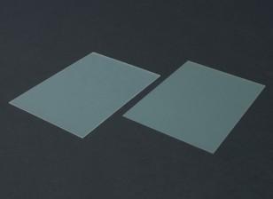 FR4エポキシガラスシート210のx 148のx 0.8ミリメートル(2PC)
