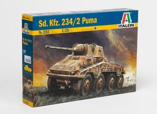 イタレリ1/35スケールSD.KFZ。 2分の234プーマパスティックモデルキット