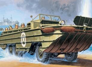 イタレリ1/35スケールDUKW米軍プラスチックモデルキット