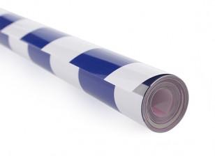カバーリングフィルムグリルワークブルー/ホワイト(5mtr)404