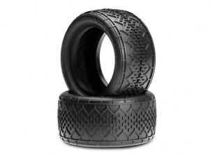 JCONCEPTSバーコードV2 1/10バギーリアタイヤ - ブラック(メガソフト)化合物