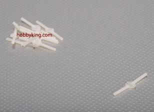スーパーライトピボット&ラウンドヒンジD3xW10xL48mm(10個入り/セット)