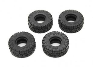 ビッグブロックタイヤ(4本) -  OH35P01 1/35ロッククローラーキット