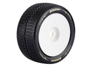 LOUISE T-TURBO 1/8スケールトラギー用タイヤスーパーソフトコンパウンド/ 0オフセット/ホワイトリム/マウント