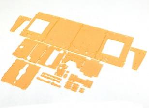 TurnigyミニFabrikator 3Dプリンタv1.0のスペアパーツ - オレンジハウジング
