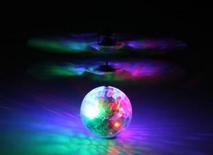 USB充電リードと点滅LEDクリスタルディスコボールを飛びます