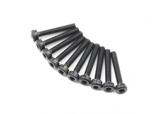 金属ソケットヘッド機械六角ネジM2x12-10pcs /セット