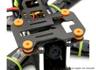 Lumenier QAV180 / 210カーボンファイバー振動減衰カメラプレート(のGoProとメビウス)