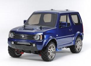 タミヤ1/10スケールスズキジムニーメタリックブルー塗装済みボディ(MF-01Xシャーシ)58621