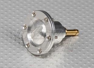 大規模なガス/タービンモデルのCNC合金燃料充填ポート(燃料ドット - シルバー)