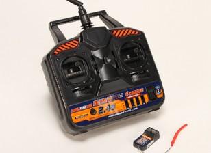 ホビーキング2.4GHzの4Chの送信&受信V2(モード2)