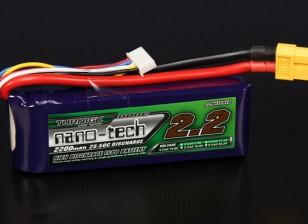 Turnigyナノテクノロジー2200mAhの4S 25〜50Cリポパック