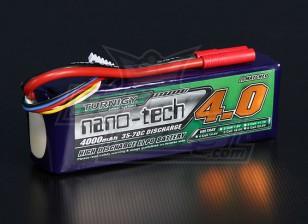 Turnigyナノテクノロジー4000mah 5S 35〜70Cリポパック