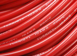 Turnigyピュアシリコーンワイヤー10AWG 1メートル(赤)