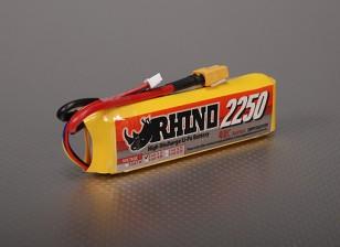 Rhinoの2250mAh 3S 11.1V 40C Lipolyパック