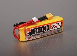 Rhinoの2250mAh 4S 14.8V 40C Lipolyパック