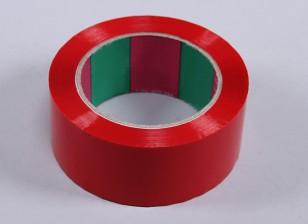 45micのx 45ミリメートルのx 100メートル(ワイド - レッド)ウィングテープ