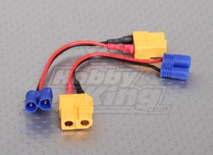 充電EC2 LosiにXT60アダプタ(2個/袋)