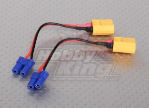 EC2 Losi電池アダプター(2個/袋)にXT60