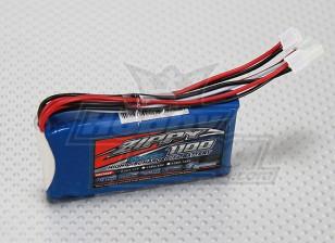 ジッピーFlightmax 1100mAhの6.6V LiFePO4の2S1Pレシーバーパック