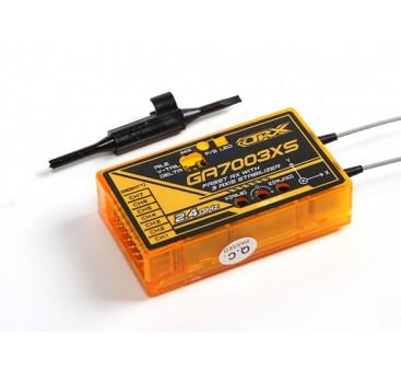3軸スタビライザーFSとSバスとOrangeRx GA7003XSフタバFASST互換性7CHの2.4GHzのレシーバー