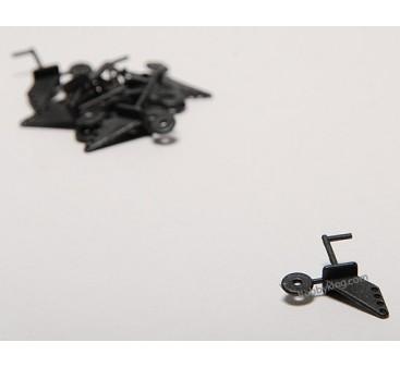 軽飛行機プラスチックコントロールパーツセット(10個入り)