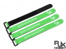 RJX Ultra-Grip Silicone Velcro Battery Straps Green (200X20mmx4pcs)