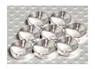 皿ワッシャーアルミアルマイトM5(シルバー)(8本)