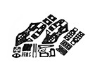 RJX X-TRON 500コンプリートカーボンフレームセット#X500-61082Set