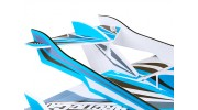 H-King Arctic Cat Water Plane - Glue-N-Go - Foamboard PP 820mm Blue (Kit) - tail