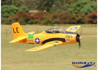 Durafly™ T-28 Trojan 1100mm V2 (PNF) - Flying side