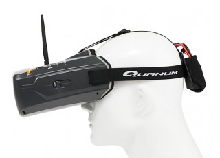 Quanum Cyclops V2 FPV Goggle w/ Integrated Monitor and 40ch Receiver side view