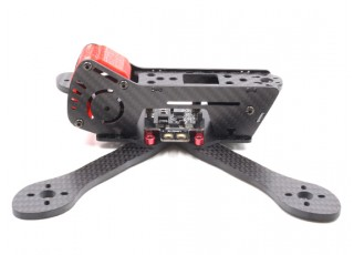 GEP-AX5 Airbus FPV Racing Drone Frame 215 (Red) (Kit) - Left Side 2