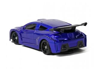 Mini-Q Sport 1:28 RC AWD Touring Car (RTR) (Blue) - rear view