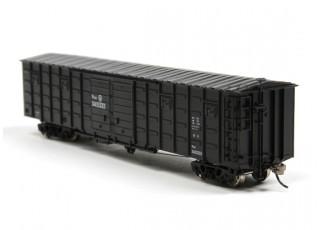 P64K Box Car (Ho Scale - 4 Pack) Black Rear