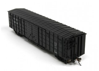 P64K Box Car (Ho Scale - 4 Pack) Black Set 2 rear