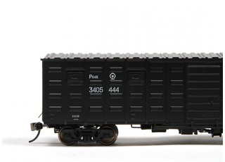 P64K Box Car (Ho Scale - 4 Pack) Black Set 2 / 2