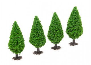 HobbyKing™ 70mm Scenic Model Trees with Base (4 pcs)