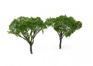 HobbyKing™ 90mm Dark Green Scenic Wire Model Trees (2 pcs)