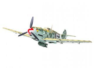 """Durafly™ Messerschmitt Bf.109E-4 Desert Scheme 1100mm (43.3"""") (PnF) - front"""